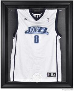 Utah-Jazz-Black-Framed-Team-Logo-Jersey-Display-Case-Fanatics-Authentic