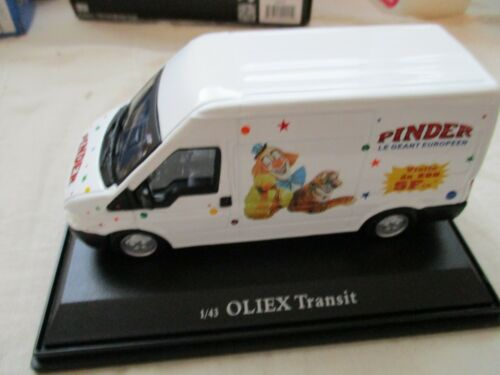MINIATURE FORD TRANSIT CIRQUE PINDER 1//43 OLIEX BOITE PLEXI