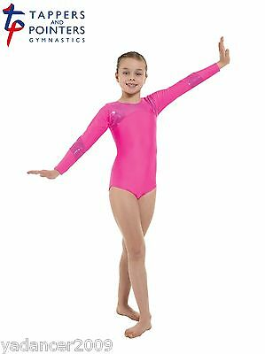 Tappers and Pointers Gymnastics Leotard with Hologram Panels Pink Gym 9