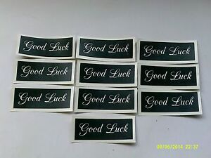 10 - 400 Good Luck stencils for etching on glass craft hobby glassware gift