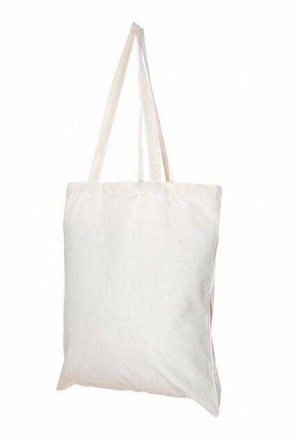 15-250 Packs of 100/%Cotton Premium Canvas Shoulder Tote Shopper Bag wholesale