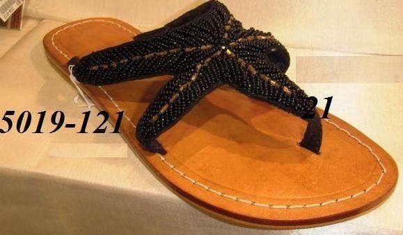 Kristens Kloset - Beaded Starfish Leather Sandal Sandal Sandal Handmade with non-slip sole 1d9c23
