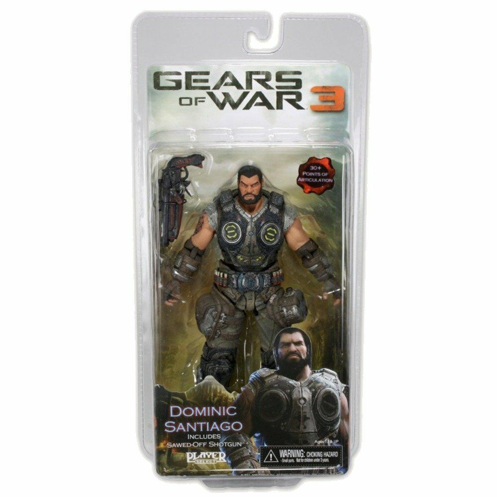 Gears of War 3 video game Series 2 Dominic Santiago 7in Action Figure NECA Toys