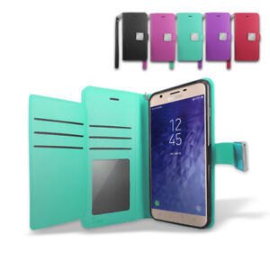 Details about For Samsung Galaxy J3 Orbit/ S367VL Leather Wallet Flip Folio  Stand Case Cover