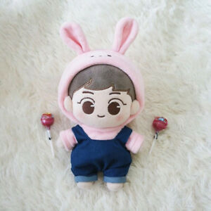 20cm KPOP EXO Plush SUHO Doll Toy Kim Jun-myun + Pink Rabbit Sweater Pink Rabbit On Golf Cart on clicgear 2.0 push cart, blue cart, clicgear 3.5 push cart, pink trailer, pink storage chest, pink shoes, pink bus, collapsible shopping cart, pink 4 wheeler, beach cart,