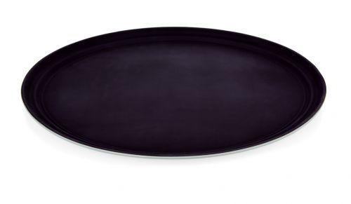 oval Serviertablett Tablett rutschhemmend oval 59x49 cm Polypropylen