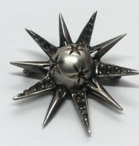 Vintage-Sterling-Silver-Brooch-Pin-925-Star-Signed-Lavenia