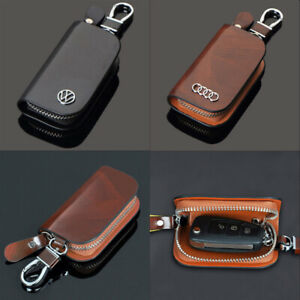 Car-Smart-Key-Case-Car-Logo-Key-Bag-Pouch-Remote-Keychain-Leather-Case-Holder