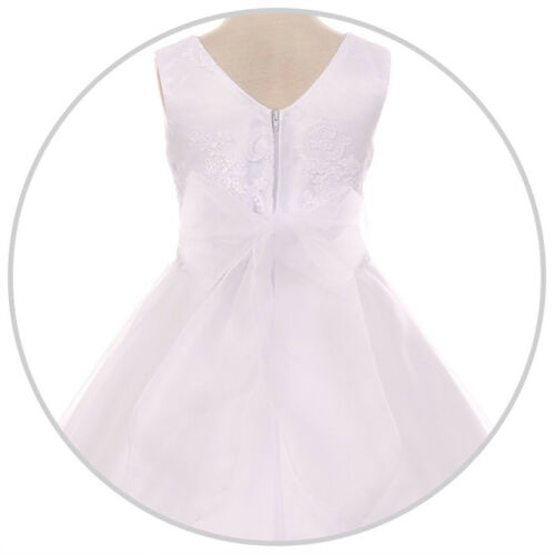 IVORY Flower Girl Dress Recital Communion Party Formal Gown Wedding Bridesmaid