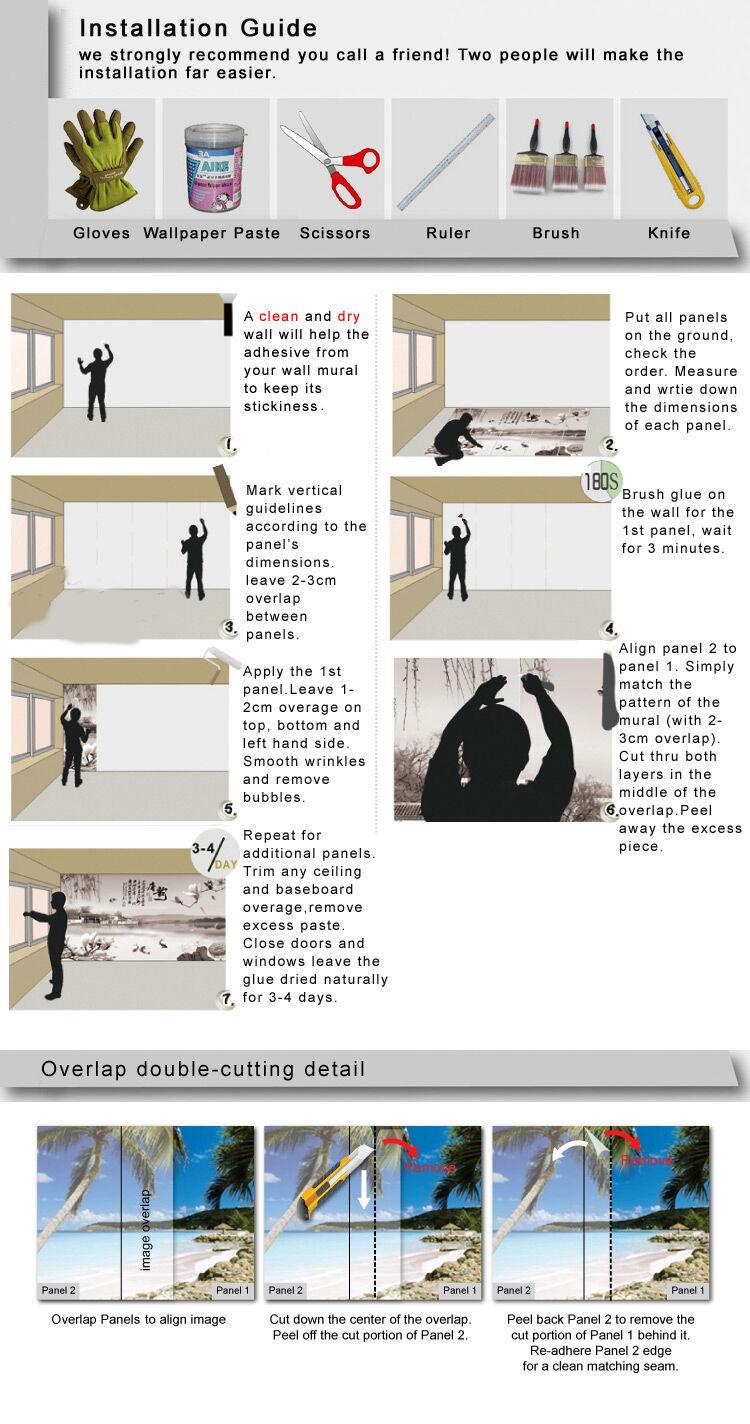 3D 3D 3D Lebendige wildnis 2394 Fototapeten Wandbild Fototapete BildTapete Familie 9c2d19