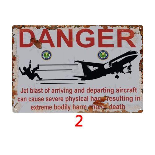 Danger Tin Sign Metal Paintings Fancy Gift Idea Design Coffee Pub Club Wall Art