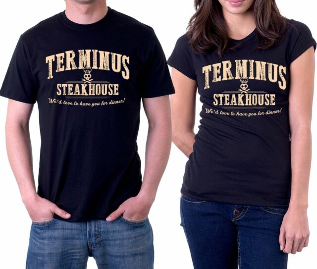 terminus steakhouse we'd love to have you for dinner walking dead t shirt