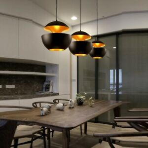 Black Pendant Light Kitchen Modern Pendant Lighting Bar Lamp Home Ceiling Light | EBay