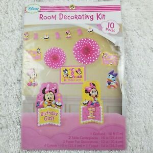 Awesome Disney Minnie Mouse 1St Birthday Pink Party Kit Room Best Image Libraries Sapebelowcountryjoecom