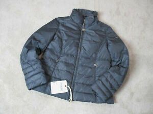 NEW-Geospirit-Jacket-Womens-Medium-Size-8-EUR-48-Gray-Gold-Coat-Puffer-330