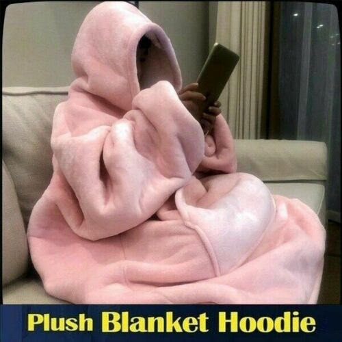 Ultra Plush Kapuzenpullover Sweatshirt Fleece Decke Camping Warme Hoodie Blanket