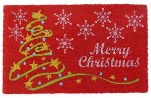 Coir-Doormat-Rubber-Backed-Christmas-Mat-Indoor-amp-Outdoor-Eco-Friendly-Mat