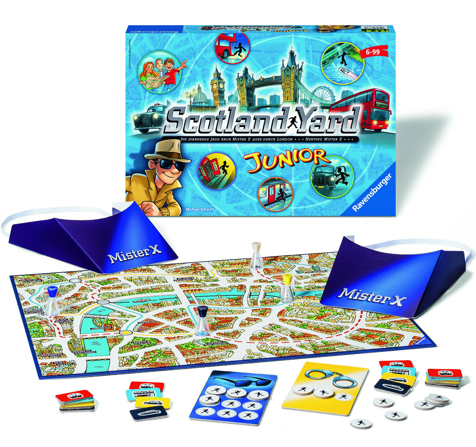 RAVENSBURGER YARD 22289 - SCOTLAND YARD RAVENSBURGER JUNIOR, NEU OVP b2a63b