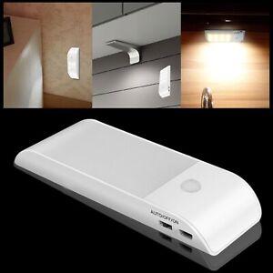 12 DEL capteur de mouvement Éclairage PIR sans fil lumière nuit USB Armoire Escalier Lampe