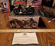 1:12 Harley Davidson 1933 collectable sidecar bank toy die cast motorcycle
