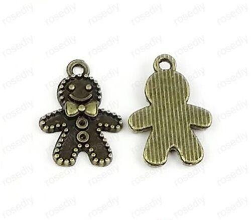 20pc Retro Bronze(small snow people)Bead Charms Accessories wholesale P1716