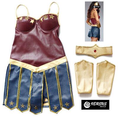Simil Wonder Woman Legue Vestito Finta Pelle Carnevale Donna Costume Wow003 Reputazione In Primo Luogo