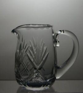 LEAD-CRYSTAL-CUT-GLASS-MILK-OR-CREAM-JUG