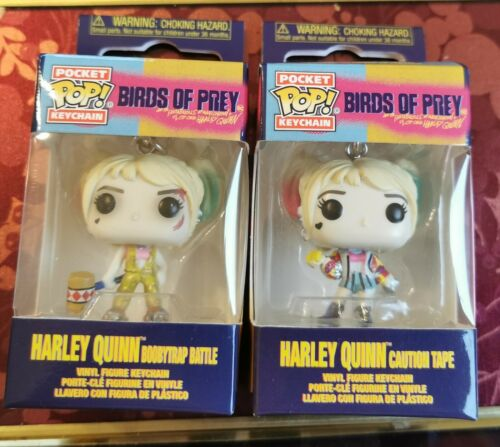 2 X FUNKO POCKET POP KEYCHAINs HARLEY QUINN BIRDS OF PREY