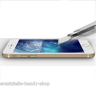 Panzer Glas + Silikon Hülle für iPhone 6 6s Tasche Schutz