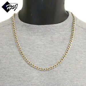 heavy chain curb mens silver necklace mm
