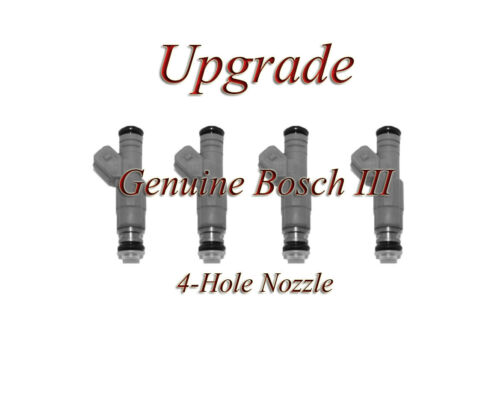 BOSCH III UPGRADE FUEL INJECTOR SET 4-HOLE NOZZLE 95-99 420A DSM 2.0 4