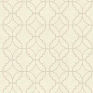 Wallpaper-Designer-Geometric-Beige-Trellis-on-Off-White-Faux-Linen