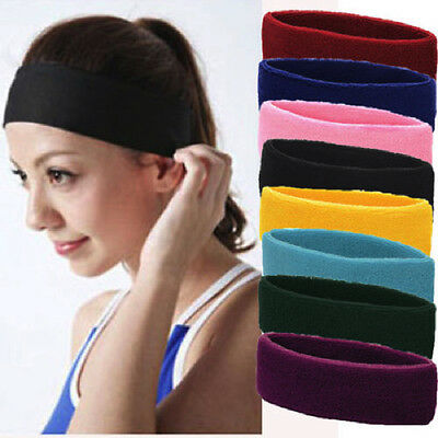 Schietto Onorevoli Donne Sports Fascia Yoga Sweatband Gym Stretch Hairband- Sconti Prezzo