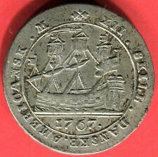 Danish West Indies 1767 (a) small letters XII Skilling Graded NGC