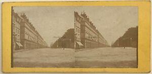 Parigi Rue Da Rivoli Foto N° PL40L6 Stereo Stereoview Vintage Albumina