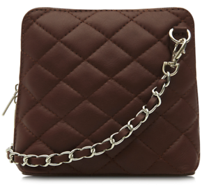 New-Ladies-Womens-Micro-Italian-Leather-Evening-Quilted-Shoulder-Crossbody-Bag