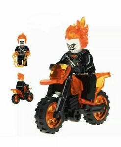 GHOST RIDER /& MOTORCYCLE SET MARVEL COMICS MINIFIGURE FIGURE