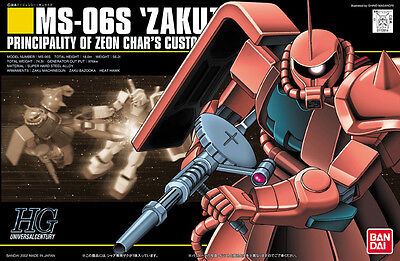 HGUC 1/144 MS-06S Zaku II Char's Custom from Gundam Plastic Model Kit Bandai JPN