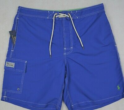 194a4825f0 Polo Ralph Lauren Blue Mens Size Large L Swimwear Board Shorts 066 ...