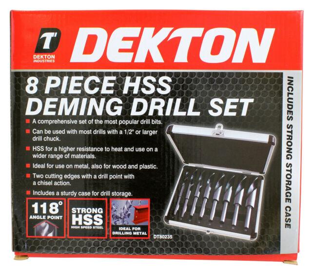 Drill Bit Set HSS 2 3 4 5 6 8mm 6pc Half ground steel Metal wood plastic