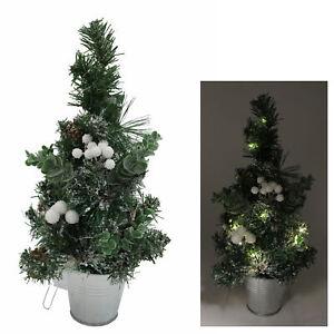 Albero Di Natale 40cm.40cm Pre Illuminate Artificiale Mistletoe Albero Di Natale Con Decorazioni Ebay