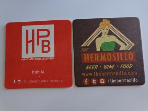 Coaster ~ HIGHLAND PARK Brewery ~ The HERMOSILLO Wine /& Beer Bar ~ CALIFORNIA