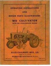 Allis Chalmers Model Wd Wc Group 2 Row Cultivator Operators Manual Ac