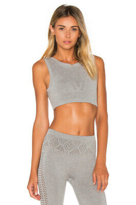 NEW Free People Movement Seamless Tighten Up Crop Top In Grey XS//S-M//L $24.80