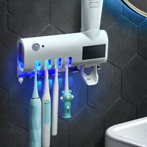 Distributeur de Dentifrice Automatique et Brosse à Dents Porte-Set Montage Mural