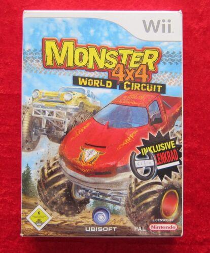 1 von 1 - Monster 4x4 World Circuit Inklusive Lenkr., Nintendo Wii Spiel, deutsche Version