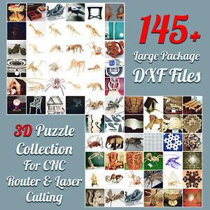 3D PUZZLE MORE THAN 145 DXF CNC-Router-Engraver-Machine-Relief-Artcam-aspire