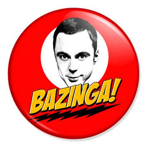 "Sheldon Cooper Bazinga 25mm 1/"" Pin Badge Big Bang Theory Geek Physics"