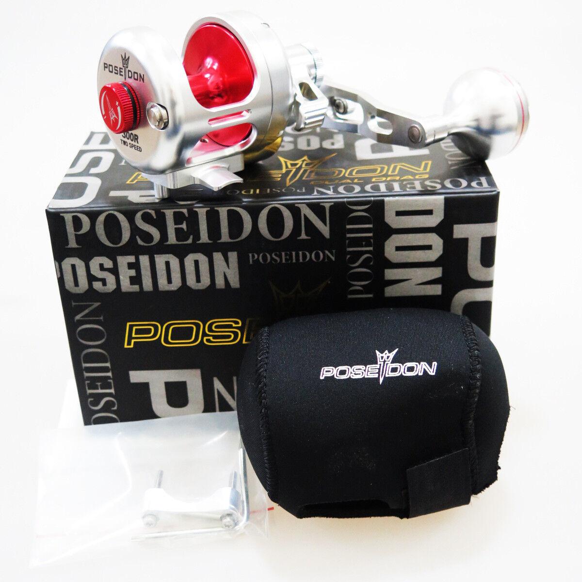 Poseidon 300R 2 velocidad de agua salada Cocherete derecho de plata rojo Prioridad FEDEX 2 días