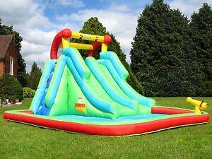 Bebop nettuno torri bambini gonfiabili castello gonfiabile scivolo piscina con spruzzi ebay - Gonfiabili con piscina ...